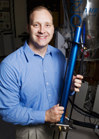 Chad Rienstra, professor of chemistry, has developed unique capabilities for probing protein chemistry and structure through the use of solid-state nuclear magnetic resonance spectroscopy.