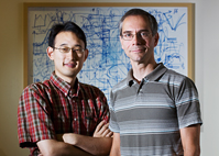 Graduate student Seung Joong Kim worked with chemist Martin Gruebele in researching water's role in protein folding.