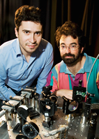 Illinois postdoctoral researcher Hasan Yardimci, left, and physics professor Paul Selvin explored the role of a motor protein, CENP-E, in moving chromosomes during a critical phase of cell division.