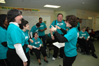 Joyful Noise, a group of singers with developmental disabilities led by University of Illinois music student Allison Fromm, is based in Cherry Hill, N.J. Fromm's sister is second from the left.