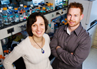 Biochemist Maria Spies and graduate student Robert Pugh have taken the first steps toward understanding how an enzyme repairs DNA.