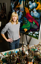 Laurie Hogin's paintings are being featured in a solo