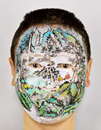 Chinese Landscape: Face Painting, Summer, 2005 Photograph 59 x 47 inches Courtesy of Chinese Contemporary, New York