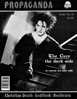 Cover of Propaganda magazine featuring an interview with Robert Smith of The Cure.