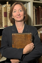 Valerie Hotchkiss, is the head of the Rare Book & Manuscript Library, which has secured a three-year grant from the Mellon Foundation to catalog the one-third of its collection uncataloged.