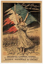The lithographic posters from World War I on display at Krannert Art Museum,