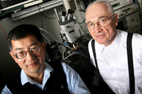 The transistor invented by Milton Feng, left, and Nick Holonyak has now been found to possess fundamental non-linear characteristics that are new to a transistor and permit its use as a dual-input, dual-output, high-frequency signal processor.