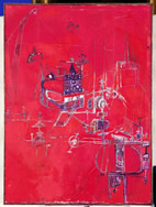 Hedda Sterne Machine 5 1950 Oil on canvas 51 x 38 1/8 in.