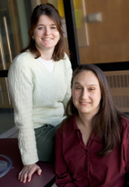 Dorothy Espelage, left, a professor of educational psychology, and her graduate student Anita Hund have found a connection between childhood sexual abuse and a higher risk for eating disorders.