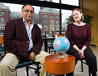 Fazal Rizvi is the director of the Global Studies in Education program at Illinois, and Nicole Lamers is the graduate student who coordinates the program.