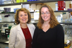 Cell and structural biology professor Martha Gillette led the Illinois researchers who found that the PKG-II enzyme triggers our biological clocks. Postdoctoral researcher Jennifer Mitchell, right, was among the researchers.