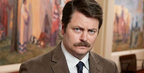 """Illinois alumnus Nick Offerman, who plays Ron Swanson on """"Parks and Recreation,"""" returns to the U. of I. to raise funds for Japan House."""