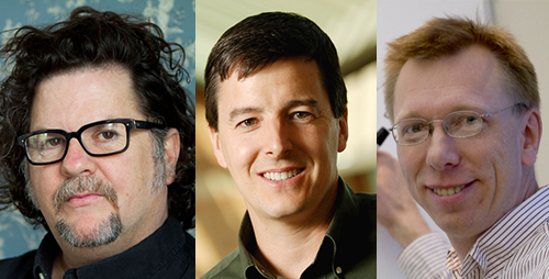 U. of I. dance professor Tere R. O'Connor, materials science and engineering professor John A. Rogers and chemistry professor Wilfred A. van der Donk have been elected to the American Academy of Arts and Sciences.  Click photo to enlarge