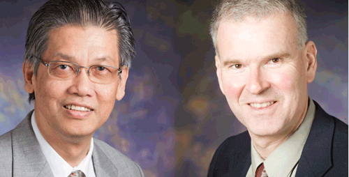 Weng Cho Chew, left, and Thomas J. Overbye have been elected to membership in the National Academy of Engineering.