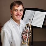 Charles Daval, an assistant professor of trumpet in the School of Music in the College of Fine and Applied Arts