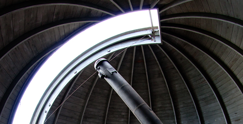The original 15-foot-tall 12-inch refracting telescope was a game-changer when it was approved and purchased by the UI Board of Trustees and added to the new observatory in 1896. In just a few years the telescope would aid Joel Stebbins in developing photoelectric cell photometry, replacing relative-brightness techniques dating back to the ancient Greeks.