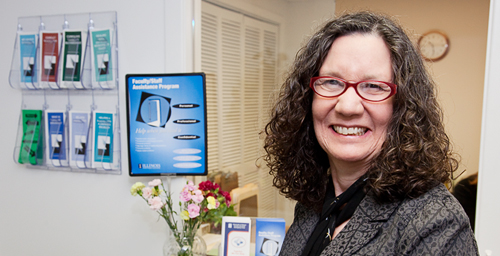 Karie Wolfson, interim director of the UI Faculty/Staff Assistance Program, says many employees are feeling heightened levels of anxiety as a result of the stressful economic conditions at the UI. The program's free, confidential counseling services are available to all UI employees and their families.