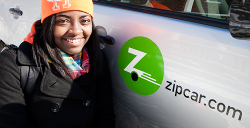 Christie Gill, a junior from Chicago, has found that not having a car on campus is no problem, thanks to the ease of using a Zipcar. Although mostly students are taking advantage of the car-sharing program with close to 400 students registered, there are about 100 faculty and staff Zipcar members as well as another 100 community members.