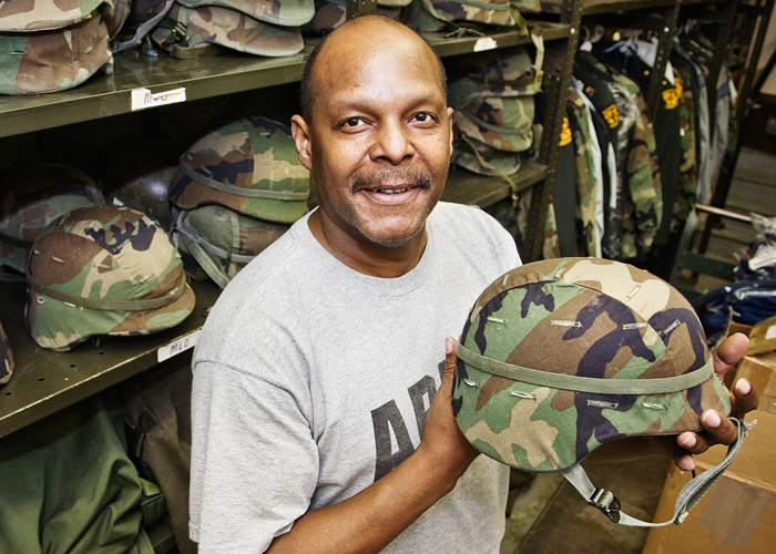 John Abram is a stores supervisor in military science.