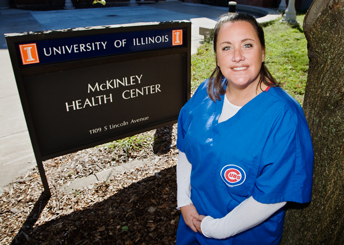 Jennifer Glass is a phlebotomist at McKinley Health Center.
