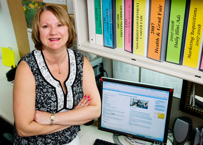 Linda Friedemann is a secretary at the Career Center, helping students achive their goals by coodinating their letters of recommendation for professional schools.