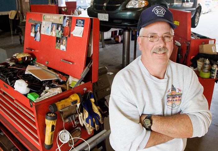 Jim Donaldson is day subforeman for the garage in the Facilities and Service Division.