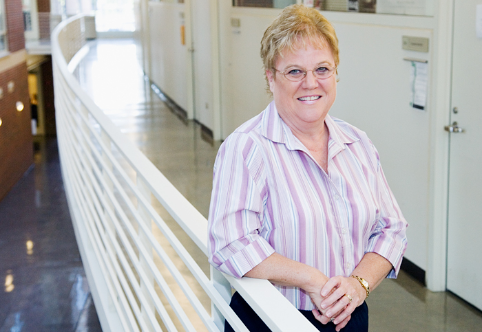 Glenda Fisher is a secretary to the head of urbana and regional planning.