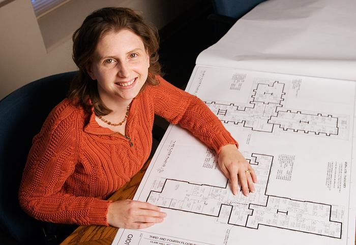 Melissa Marriott is an interior designer for University Housing.