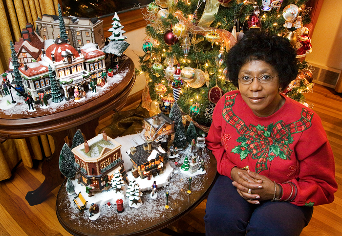 Dorothy Kinard is an account technician at the Small Animal Clinic and decorates for Christmas in a big way.