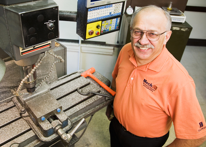 Pete Hetman is an instrument maker in the department of mechanical science and engineering