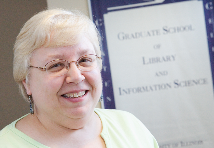 Kathy Painter has worked at the UI for 26 years and is a faculty secretary with the Graduate School of Library and Information Science.