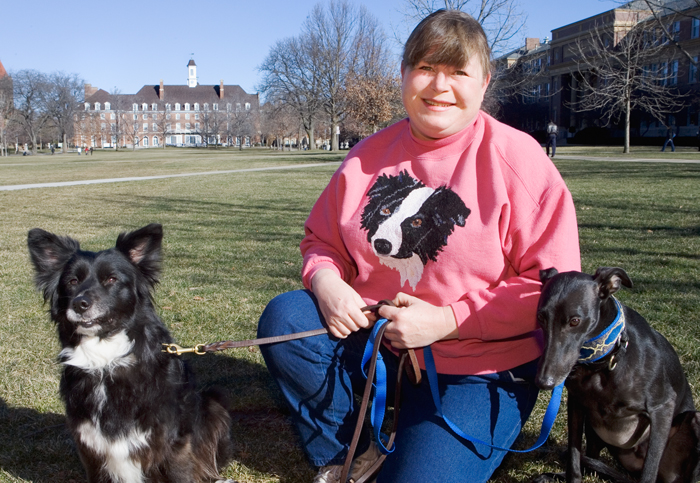 Lisa Ochoa is a program administrative assistant with the Intensive English Institute. She has served as a foster parent to approximately 300 dogs.