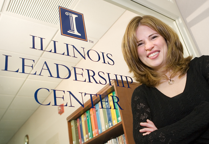 Sara Thompson is the leadership development coordinator for the Illinois Leadership Center, where she has worked since 2002.