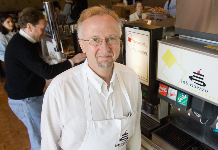 Mike Steiskal is a food service administrator IV at Krannert Center for the Performing Arts.