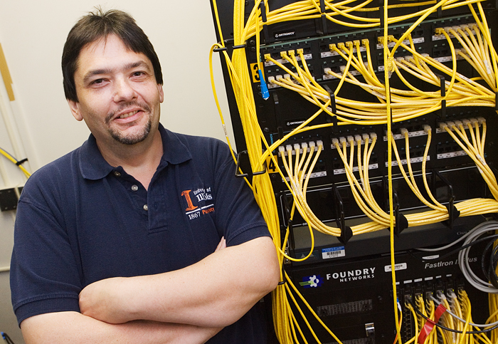 Gregor Vacketta, a systems administrator, is known in the Division of Public Safety