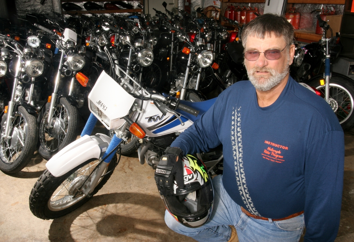 Gil Heitka is a motorcycle safety specialist in the department of community health.