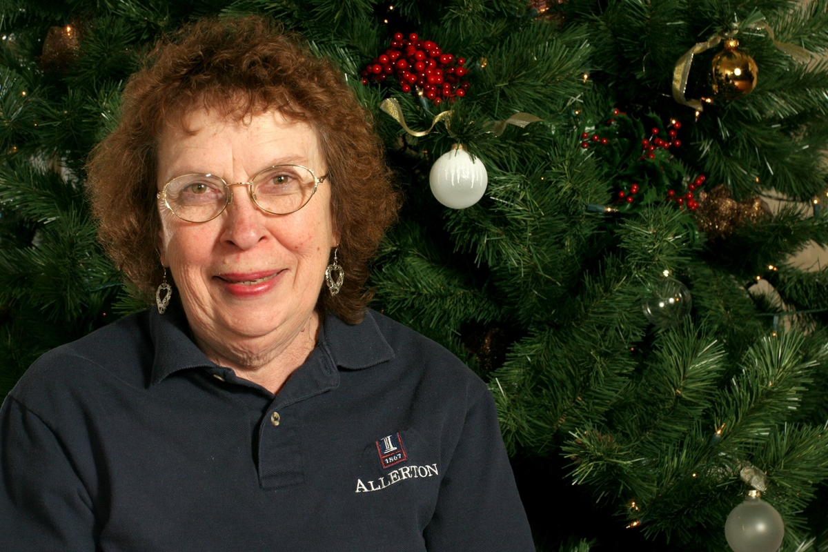 Ruth Ann Grant is a housekeeper at Robert Allerton Park and Conference Center, Monticello.