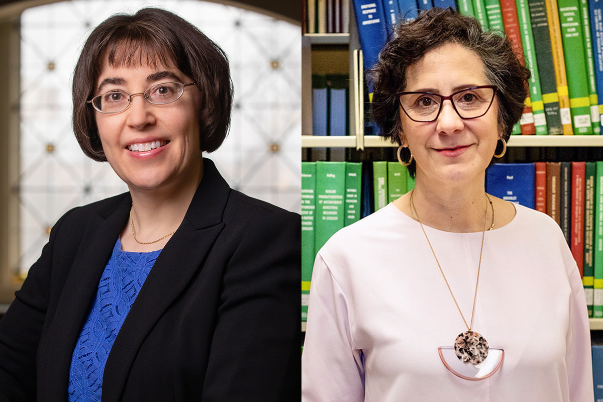 Illinois professors Leanne Knobloch, left, and Angharad Valdivia have been elected Fellows of the International Communication Association.