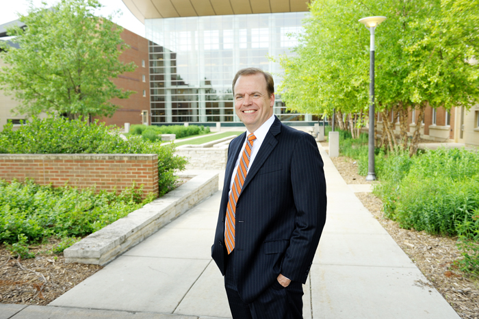 Jeffrey R. Brown, the William G. Karnes Professor of Finance, has been named the 10th dean of the College of Business, pending approval by the U. of I. Board of Trustees.