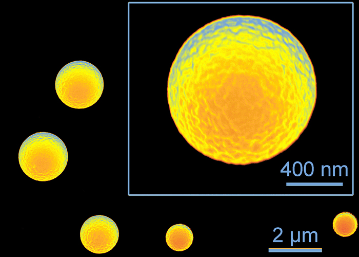Illinois chemists developed a method to make tiny silicone microspheres using misting technology found in household humidifiers. The spheres could have applications in targeted medicine and imaging.