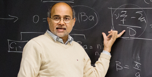 Nuclear engineering professor Rizwan Uddin, teaching Neutron Diffusion and Transport, created the Virtual Lab after enrollment in the entry-level course in his department swelled to four times the usual enrollment.