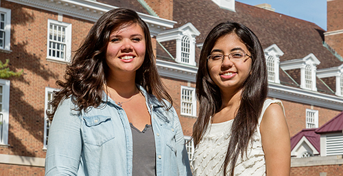 Illini Union Board vice president for programs Emily Silva, left, and Stuti Mehta, president, found their niche.