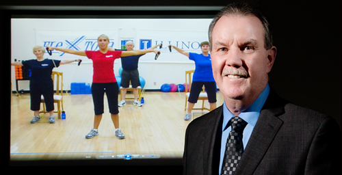 Kinesiology and community health professor Edward McAuley led a new study testing the efficacy of a home-based DVD exercise program for people 65 and older.