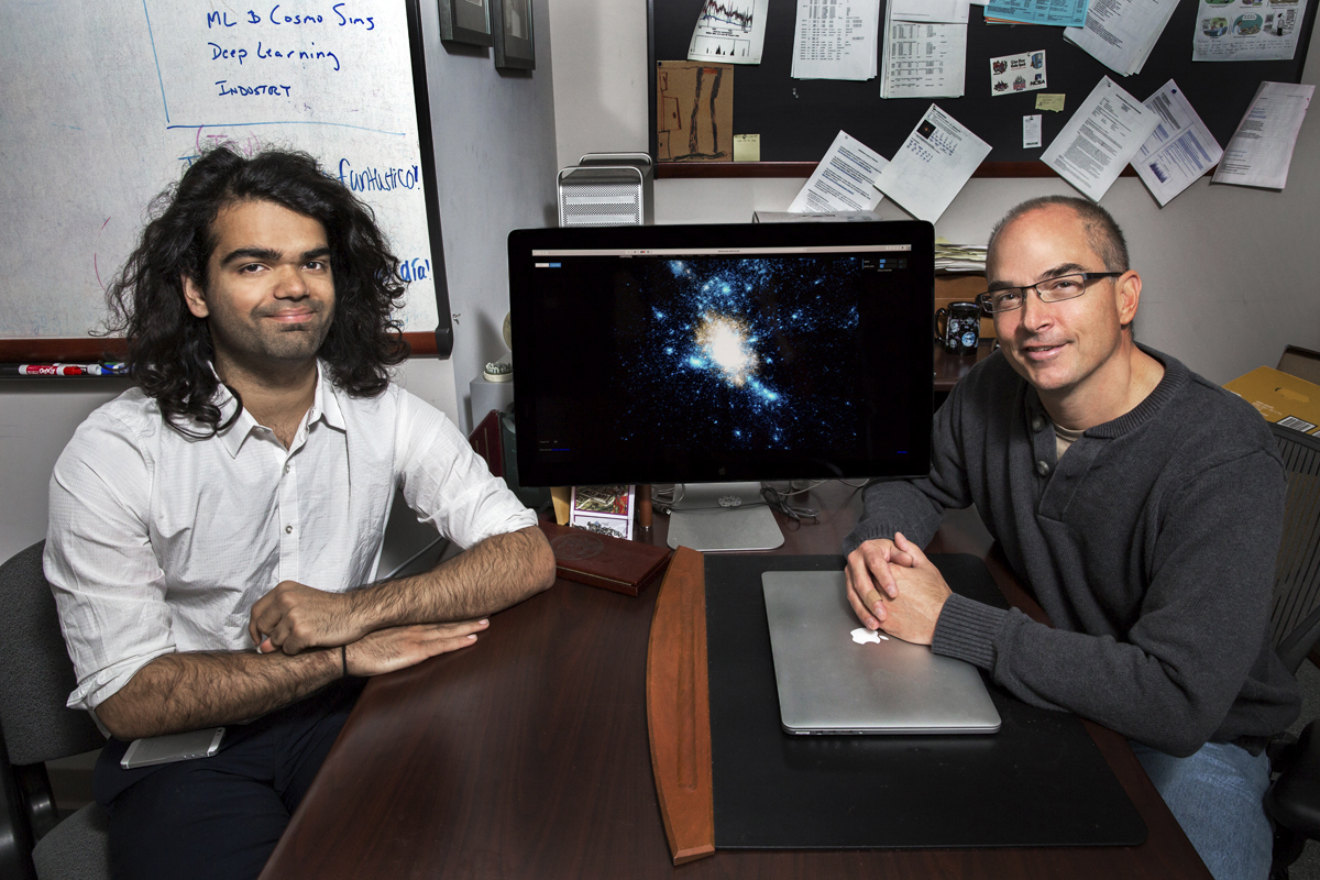 A new, faster modeling technique for galaxy formation has been developed by University of Illinois student Harshil Kamdar and professor Robert Brunner. The technique uses machine learning to cut down computing times from thousands of computing hours to mere minutes.