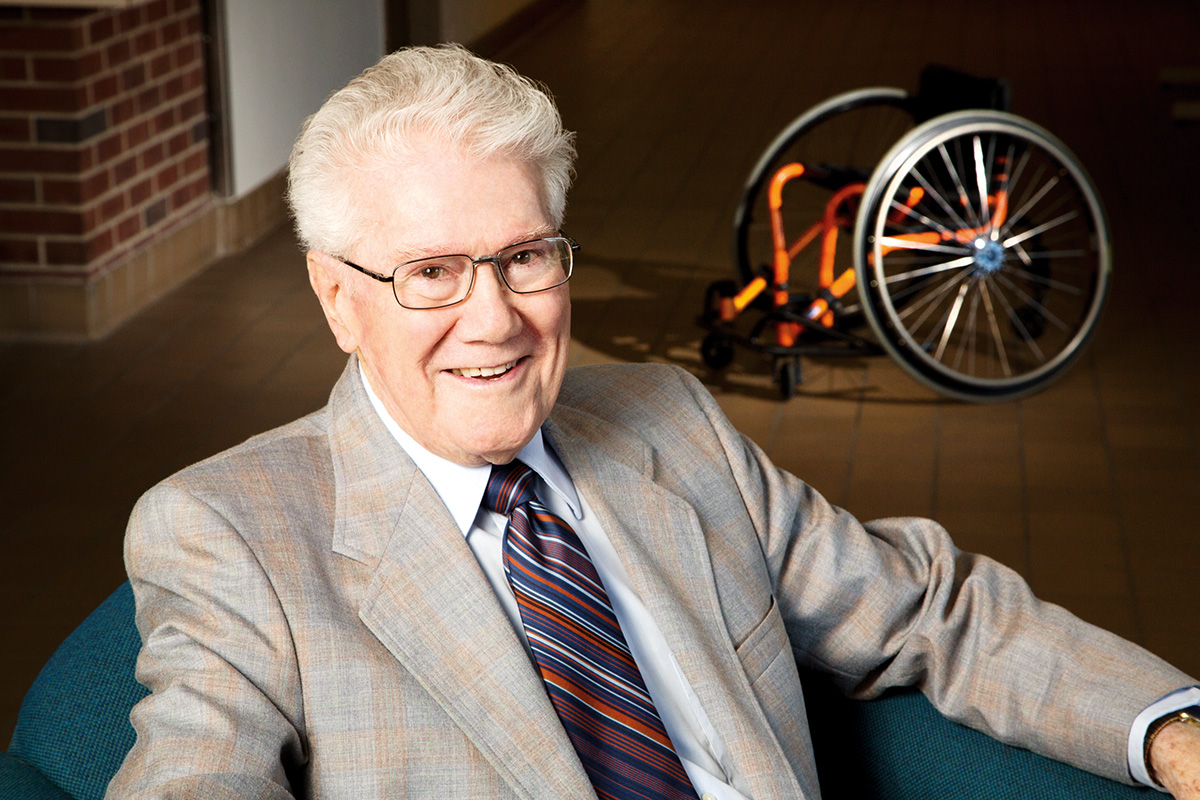 Tim Nugent was a pioneer for disability rights and accessiblity, founding a first-of-its-kind program at the University of Illinois, leading research efforts, and advocating for changes that would have influence well beyond the campus.