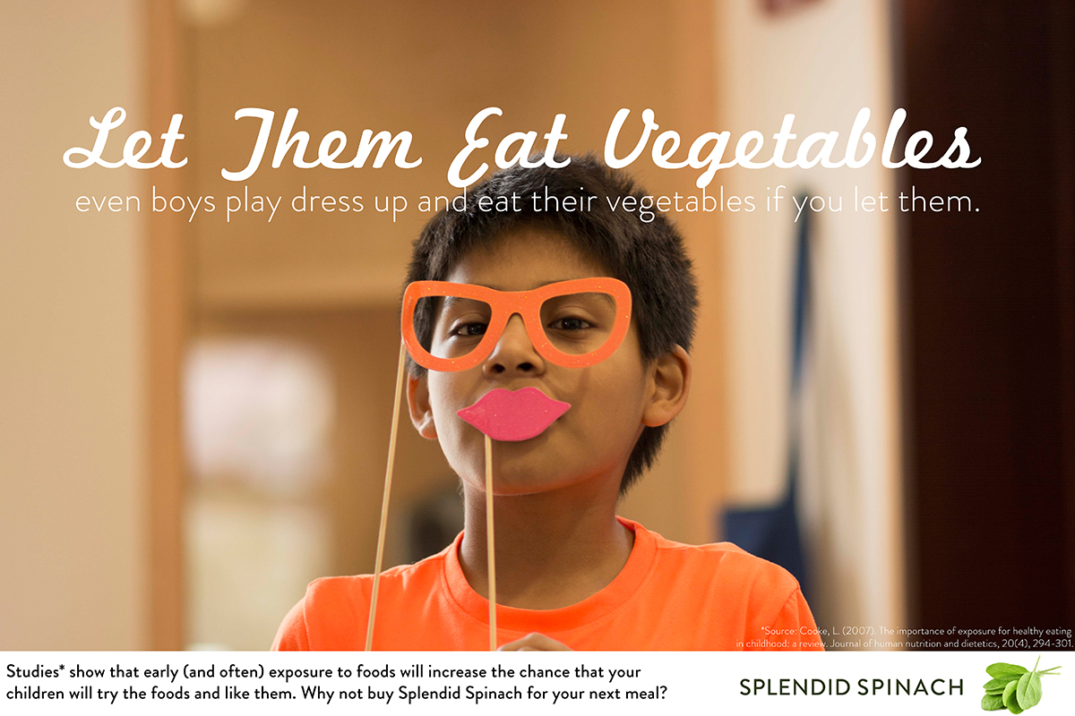 Children need to understand the basics of advertising better than they do, says Illinois advertising professor Michelle Nelson. So she led the development of a curriculum and website to teach advertising literacy in school classrooms, incorporating lessons on healthy eating. This example ad developed for the curriculum playfully sells parents on feeding their kids vegetables.