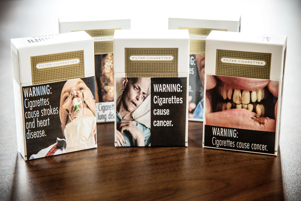 Graphic warning labels on cigarette packages, like these approved for use in the U.S., may not have the desired effect, according to a University of Illinois study.