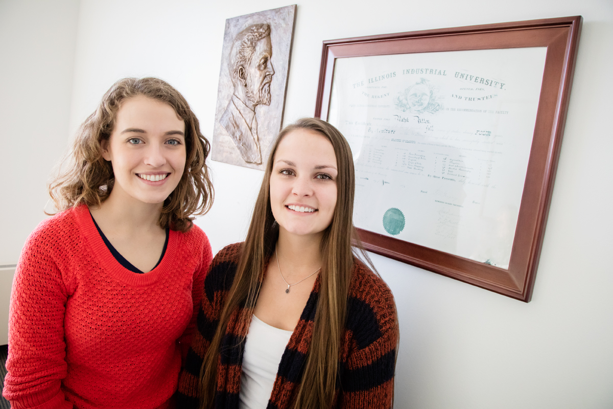 Tara Zumwalt (left) and Eve Zumwalts family has been attending Illinois for more than 140 years.