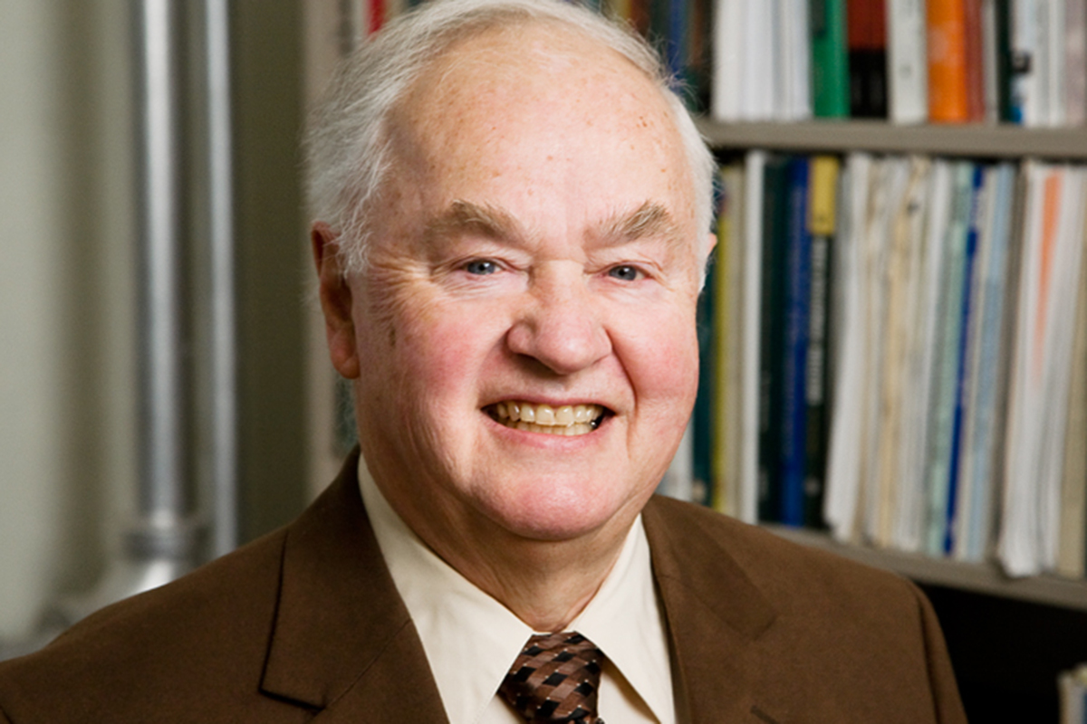 Photo of Walter W. McMahon, an emeritus professor of economics and of educational organization and leadership at the University of Illinois.
