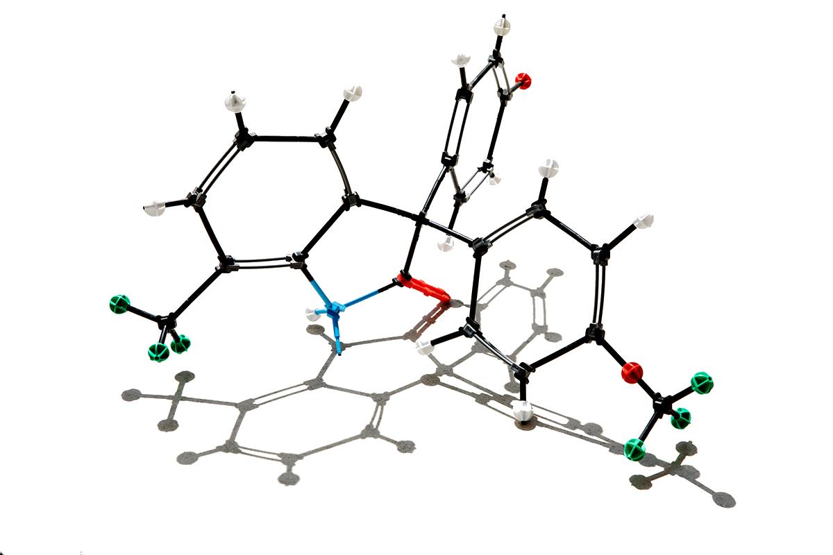 Molecular model of ErSO, an anticancer compound